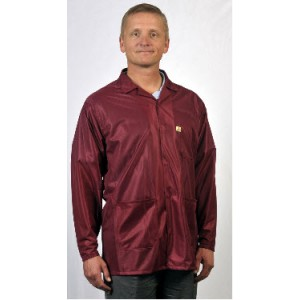 "Tech Wear ESD-Safe 32""L Traditional Jacket OFX-100 Color: Burgundy Size: 3X-Large"