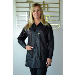 "Tech Wear ESD-Safe 32""L Traditional Jacket OFX-100 Color: Black Size: Medium"
