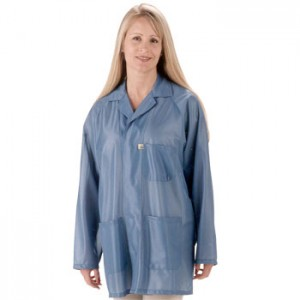 "Tech Wear ESD-Safe 31""L Traditional Jacket With ESD Cuff OFX-100 Color: Hi-Tech Blue Size: 2X-Large"
