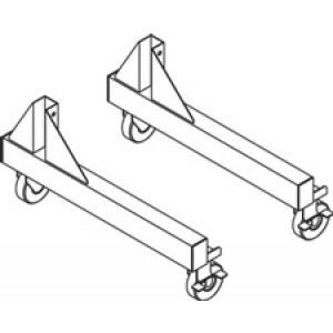 "QS-00230-8298 IAC Industries Quick Ship Packaging Accessory Stations (PAS) 4"" Caster Retrofit Kit"