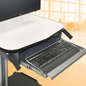 QS-2052208 IAC Industries Quick Ship Smart Mobile Station Slide Out Keyboard Tray 19.5L