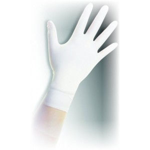 "Q125-L QRP Qualatrile™ ESD Cleanroom 12"" Nitrile Glove 5mil Powder-Free Class 100<br> Color: White Size: Large 100/Double Bag"