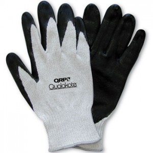 QRP Qualakote® ESD Medium Heat (Up To 250°F) Wave Solder Glove Nitrile Palm Coated Heavy Carbon/Nylon Knit Size: Large 12Pair/Pak