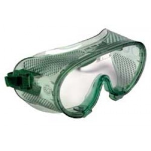 QVIS SAP1000 Expo Goggles Soft Vinyl with Polycarbonate Lens, Direct Vent, Scratch Resistant, ANSI approved. Z87.1 1989 Color: Green Tinted 12/Box (VSP
