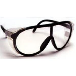 QVIS Explorer Safety Glasses Full Side Shields, UV Protective, Scratch Resistant, Anti-Fog, ANSI Z87.1 Clear Lens with Black  Frame 12/Box