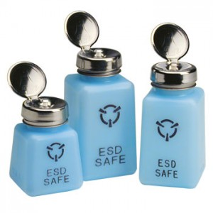 R&R Lotions - Solvent Dispenser - 8oz. - Standard Pump - ESD Safe - Blue