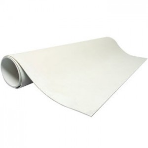 """CR-2460 Static Solutions Ultimat™ Clean Room 1-Layer Rubber Mat Zero VOC .080 thick 24"""" x 60"""" White"""