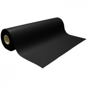 "UR-2440B Static Solutions Ultimat™ ESD Dissipative Work Surface Material 2-Layer Rubber Roll.080 thick 24"" x 40' Black"