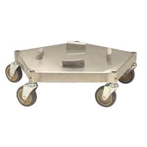 WBASDM Transforming Technologies ESD-Safe Conductive Metal Trash Can Dolly, 44 Gallon