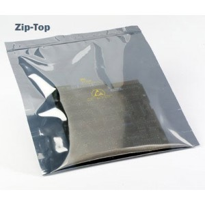 "3M™ Static Shielding 11""x15"" Zip-Top Bag Metal-In 100/Pack"