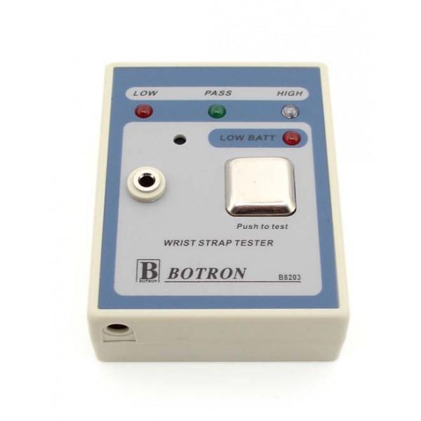 b8203 botron portable wrist strap tester includes 9 volt. Black Bedroom Furniture Sets. Home Design Ideas
