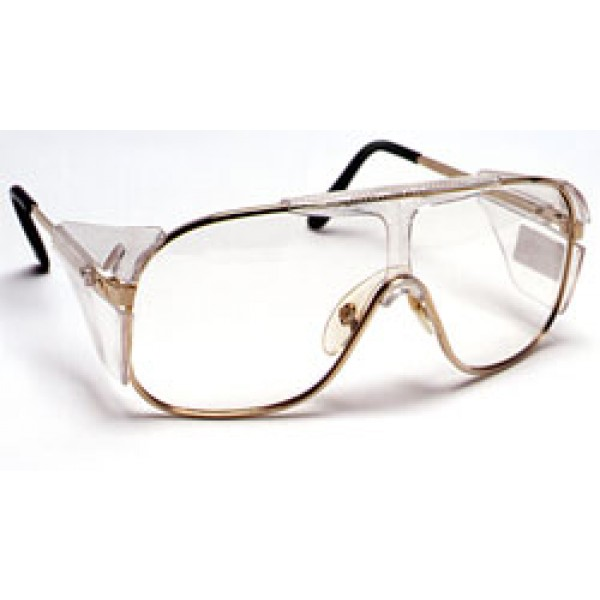 clear lens metal gold frame 12box qvis pilot safety glasses full side shields uv protective scratch resistant anti
