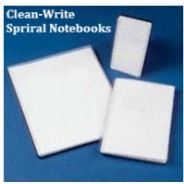 "Clean-Write Notebook 3""x5"" Cleanroom College Ruled Side Spiral 100 Pages Color: Frosted Cover 40/Case"