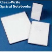 "Clean-Write Notebook 3""x5"" Cleanroom College Ruled Top Spiral 100 Pages Color: Frosted Cover 40/Case"