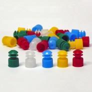 118127O Globe Scientific GS118127O Flanged Plug Cap 12mm Polyethylene Color: Orange 1000/Pack (VSP)