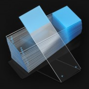 1354B Globe Scientific GS1354B Diamond™ White Glass Microscope Slides 25x75mm Positive Charged Beveled Edge With Clipped Corners BLUE Frosted 1440/Case (VSP)