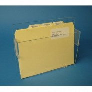 "S-Curve Cleanroom Document /Folder/ Paper Dispenser 12""x10""x2""Hx1/8"" Thick Clear Acrylic With Hardware for Wall Mounting 2/Case"