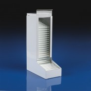 1592 Globe Scientific GS1592 Dispenser for 13x100mm Glass Culture Tubes White Metal (VSP)