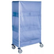 "Botron ESD-Safe Cart Cover 18""x36""x63"" Vinyl With Zip Up Seams Color Blue 2 Piece Minimum"