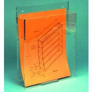 "S-Curve Cleanroom Document /Folder/ Paper Dispenser 9""x12""x2""Hx1/8"" Thick Clear Acrylic With Hardware for Wall Mounting 2/Case"