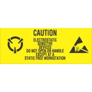 "VSP 301-0125 Label 1""x2-1/2"" Yellow/Black 500/Roll ""Caution Sensitive Devices"" (VSP)"