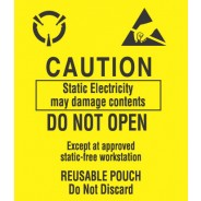 "VSP 303-03503 Label 3-1/2""x3"" Yellow/Black 500/Roll ""Caution-Do Not Open"" (VSP"