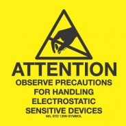 "VSP 307-0202 Label 4""x4"" Yellow/Black 500/Roll ""Attention Observe Precautions"" (VSP)"