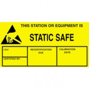 "VSP 307-0203 Label 1-3/4""x3"" Yellow/Black 500/Roll ""Static Safe"" (VSP)"