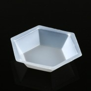 3617 Globe Scientific GS3617 Weighing Dish Plastic  200mL Hexagonal  Antistatic Polystyrene  500/Case (VSP)