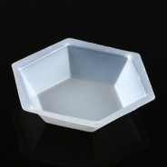 3618 Globe Scientific GS3618 Weighing Dish Plastic 350mL Hexagonal Antistatic Polystyrene 500/Case (VSP)