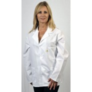 "Tech Wear Nylostat ESD-Safe 31""L Jacket Cotton/Poly Woven Color: White Size: 2X-Large"