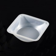 Globe Scientific Weighing Dish Square Plastic 100mL, 89x89x25mm Antistatic Polystyrene 500/Case