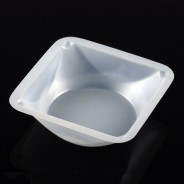 3622 Globe Scientific GS3622 Weighing Dish Square Plastic 330mL, 140x140x25mm Antistatic Polystyrene 500/Case (VSP)