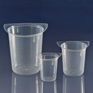 3632 Globe Scientific GS3632 Tri-Corner Clarified Plastic 250mL Beaker Polypropylene 100/Case (VSP)