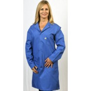 "Tech Wear Nylostat ESD-Safe 41""L Coat Cotton/Poly Woven Color: Blue Size: X-Large"
