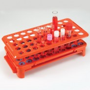 456926 Globe Scientific GS456926 Rack W/Grippers & Tube Eject for up to 16mm Tubes 50-Place Color: Orange