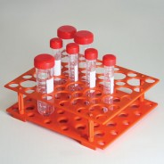 456930-Globe Scientific GS456930 Centrifuge Tube Rack for 15mL and 50mL Orange-GS456930