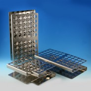 "457100-Globe Scientific  GS457100 Tube Rack 12/13mm, 25-Place  Stainless Steel  ""Z"" Shape-gs457100"
