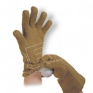 "QRP Dissipative Qualatherm® 18""L Cleanroom Glove Extreme High-Temp Wool (1400Deg F) Class 100 (ISO 5) Universal Size: Large 1Pair/Bag"