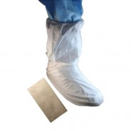 "t52658-Epic  Boot Cover Cleanroom Disposable Microporous W/PVC Sole 18"" Upper Color: White  Universal Size 100/Case-52658"