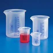601822 Globe Scientific GS601822 Beaker Griffin Style Low Form 50mL Polypropylene With Printed Graduations 20/Pack (VSP)