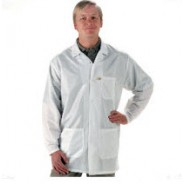 "Tech Wear EconoShield ESD-Safe 33""L Coat ECX-500 Color: White Size: Medium"