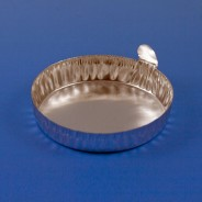 8309 Globe Scientific GS8309 Aluminum Dish 28mm, 0.3g (8mL) Crimped Side with Tab 500/Case (VSP)