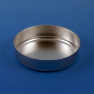 8308 Globe Scientific GS8308 Aluminum Dish 70mm, 2.0g (80mL) Crimped Side with Tab 1000/Case (VSP)