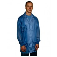 Transforming Technologies JKC 8803 LB ESD - Traditional Collared Lab Jacket, ESD Knit Cuff, Color: Light Blue, Size: Medium JKC 8803LB