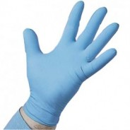 "8BQP09-M QRP Qualatrile™ ESD-Safe Nitrile 9"" Gloves 8mil Powdered Industrial Grade Color: Blue Size: Large 50/Box"