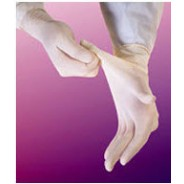 "Biotek® Latex Glove 9"" Powder-Free 4mil Industrial Grade Size: Medium Color: White 100/Box 10Boxes/Case"