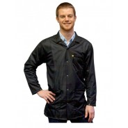 JKC9024 SPBK Transforming Technologies JKC 9024SPBK ESD - Traditional Lab Jacket, ESD Snap wrist, Color: Black, Size: Large
