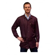 Transforming Technologies JKC 9021SPMR ESD - Traditional Collared Lab Jacket, ESD,Snap Wrist, Color: Maroon, Size: X-Small