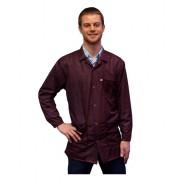 JKC9023SPMR Transforming Technologies JKC9023SPMR ESD - Traditional Collared Lab Jacket, ESD,Snap Wrist, Color: Maroon, Size: Medium